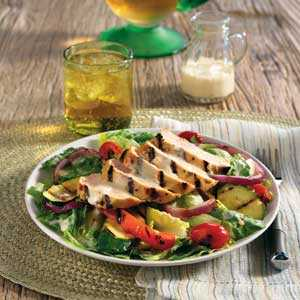 Hellmann's Mayonnaise Grilled Chicken and Vegetable salad RecipeRecipe
