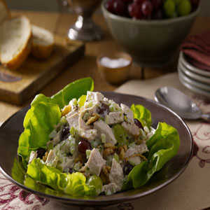 Turkey Salad with Grapes and Walnuts Recipe by Hellmann's® Mayonnaise Recipe