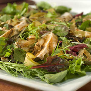 Caramelized Apple Salad with Grilled Chicken RecipesRecipe