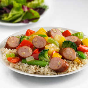 Johnsonville Apple Chicken Sausage Sweet and Sour Stir-FryRecipe