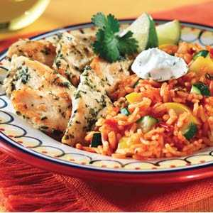 Knorr Rice & Pasta Sides Cilantro Chicken Zucchine and Rice RecipeRecipe