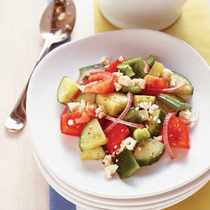 Easy Greek Tomato and Cucumber SaladRecipe