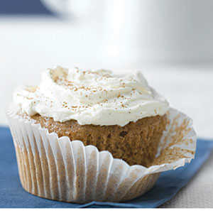 Carrot-Ginger Cupcakes with Spiced Cream Cheese RecipesRecipe