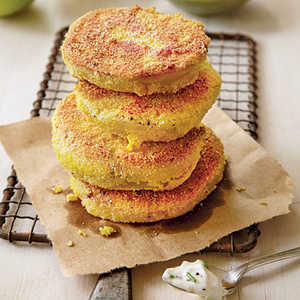 Fried Green Tomatoes with Garlicky RémouladeRecipe
