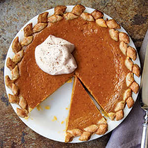 Pumpkin Pie with Vanilla Whipped CreamRecipe