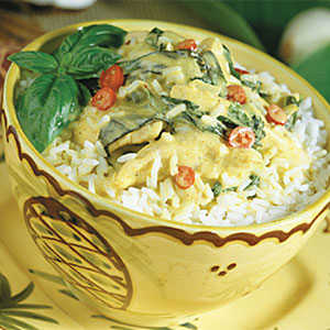 Curried Coconut Chicken and Rice RecipesRecipe