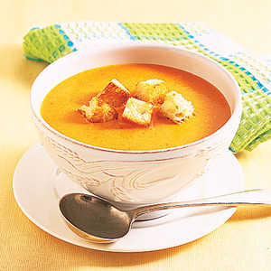 Roasted Pepper-Cheddar Soup Recipe