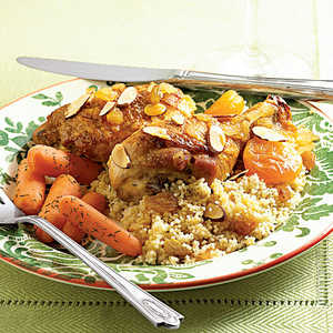 Pan-Braised Chicken with ApricotsRecipe