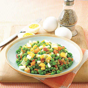 Pea Salad with Bacon and EggsRecipe