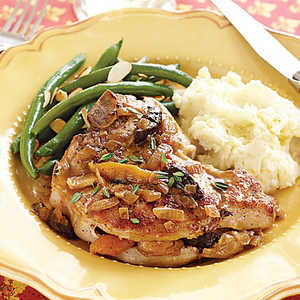 Pork Chops with Dried Fruit Stuffing Recipe