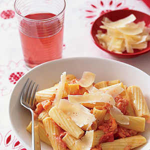 Rigatoni with Grilled Tomatoes and CreamRecipe