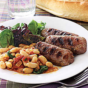 Cannellini Beans with Grilled Italian SausageRecipe