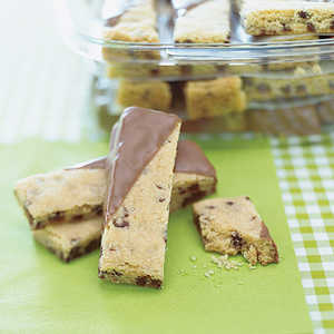 Chocolate-Dipped Shortbread Fingers Recipe