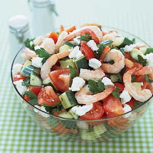 Greek Salad with Shrimp Recipe