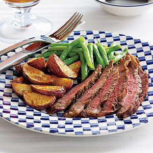 Grilled Steak with Roasted Potatoes Recipe