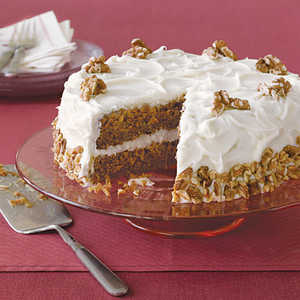 Apple Spice Cake with Cream Cheese FrostingRecipe