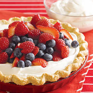 Triple Berry Cream PieRecipe