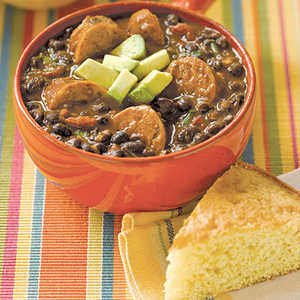 Black Bean Soup with SausageRecipe
