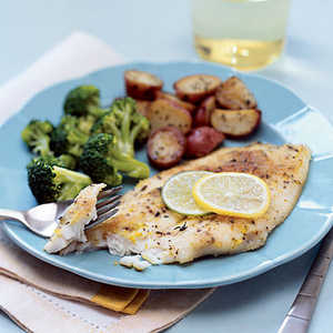 Flounder with Lemon-Lime Butter Recipe