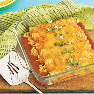 Corn and Cheese EnchiladasRecipe