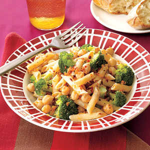 Pasta with Chickpeas and BroccoliRecipe