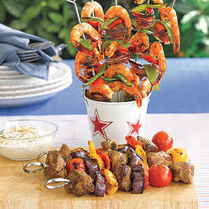Soy-Glazed Shrimp Kebabs Recipe