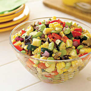 Grilled-Vegetable Succotash SaladRecipe