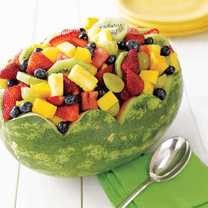 Fresh Fruit in Watermelon BowlRecipe