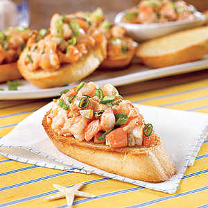 Spicy Shrimp BruschettaRecipe