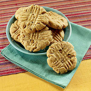 Peanut Butter Cookies with Butterscotch BitsRecipe