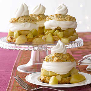 Pear and Apple ShortcakesRecipe