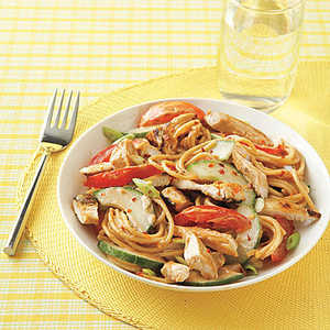 Asian Sesame Noodles with ChickenRecipe
