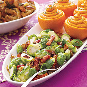 Brussels Sprouts with Caramelized OnionsRecipe