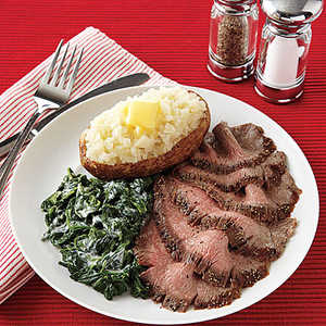 Pepper-Crusted Flank SteakRecipe