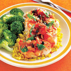 Chicken with Tomatoes and ArugulaRecipe