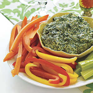 Spinach Dip with CruditésRecipe