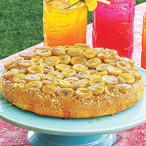 Banana-Coconut Upside-Down Cake Recipe