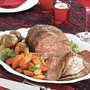 Sirloin Tip Roast with Carrots and Baby Red PotatoesRecipe