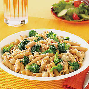 Whole-Wheat Penne with Broccoli and Chickpeas Recipe