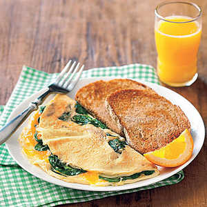 Spinach Omelet and ToastRecipe
