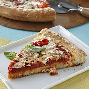 Pizza with Fresh Tomatoes and BasilRecipe