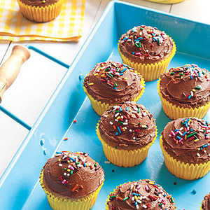 Banana Cupcakes with Chocolate Frosting Recipe