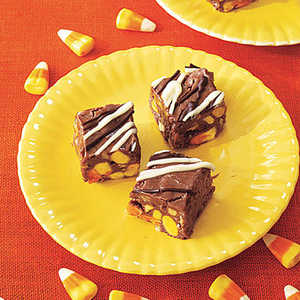 <p>Candy Corn Fudge</p>