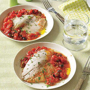 Tilapia with Tomatoes and OlivesRecipe