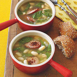 White Bean, Sausage and Spinach Soup Recipe