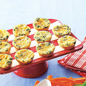 Cheesy Crustless Mini QuichesRecipe