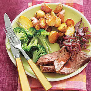 Flank Steak with Red OnionsRecipe