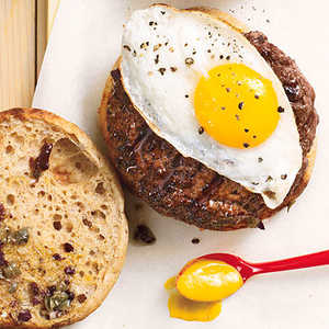 The Fried Egg-Olive BurgerRecipe