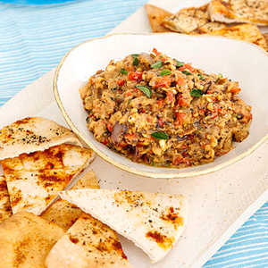 Grilled Vegetable Dip with Pita ChipsRecipe