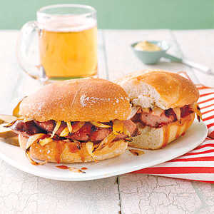 Grilled Kielbasa and Onion Sandwiches Recipe